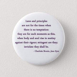 Zitat-Knopf Janes Eyre Runder Button 5,7 Cm