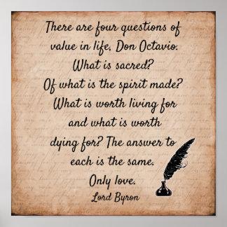 Zitat Lords Byron ** Druck der Kunst 12 X12 Poster