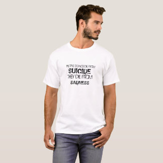 Zitat-Shirt - Shirt mit Sprichwort Leuten tun