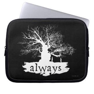 Zitat-Silhouette Harry- Potterbann-  immer Laptop Schutzhüllen
