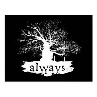 Zitat-Silhouette Harry- Potterbann-| immer Postkarte