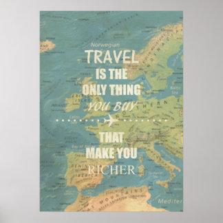 Zitate einer inspirierende Reise Poster