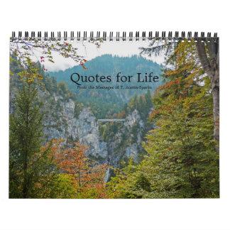 Zitate für Leben-Kalender-Wahl F Wandkalender