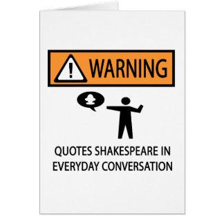 Zitate Shakespeare Grußkarte