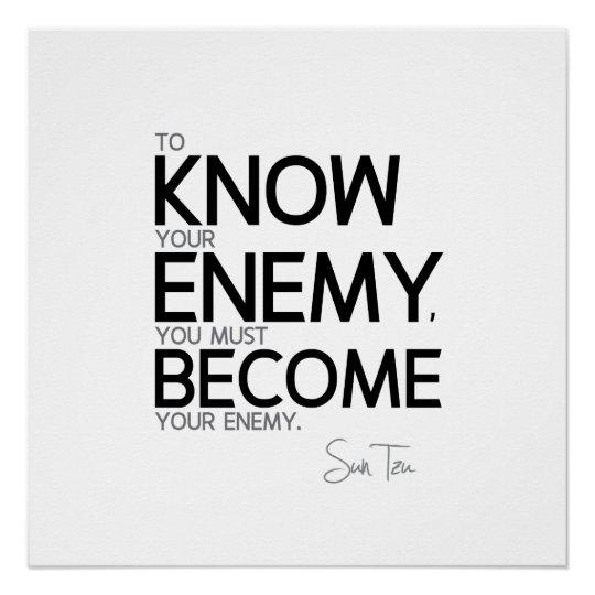 Zitate Sun Tzu Kennen Sie Ihren Feind Poster