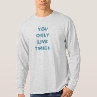 Zitieren Sie Sie leben nur zweimal Blau T-Shirt