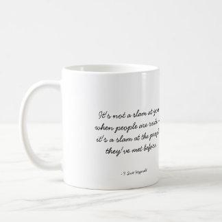 Zitierfähige Kaffee-Tasse - Rudeness Kaffeetasse