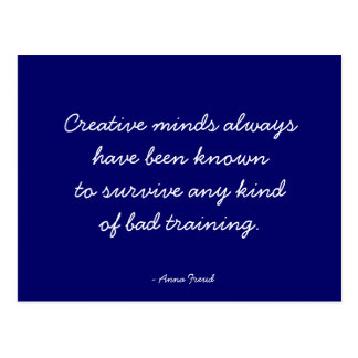 Zitierfähige Postkarte - kreativer Verstand