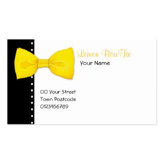Zitrone BowTie Visitenkarte