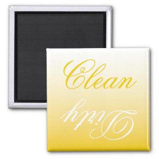 Zitrone Ombre Spülmaschinen-sauberer/schmutziger Quadratischer Magnet