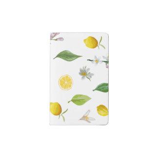 Zitrone und BlumenMoleskine Zeitschrift Moleskine Taschennotizbuch
