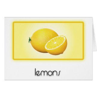 Zitronen Karte