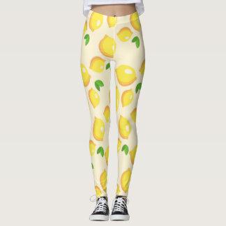Zitronen-Muster-Gamaschen Leggings