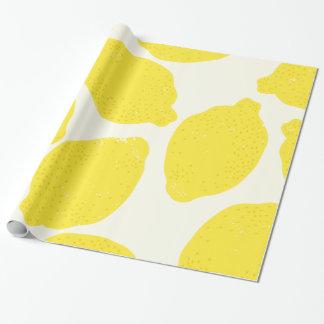 Zitronen-Packpapier Geschenkpapier