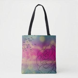Zitronen-Rose Tasche
