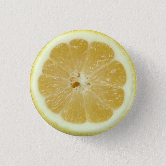 Zitronen-Scheibe-Knopf Runder Button 2,5 Cm