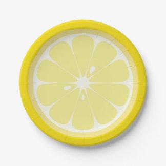 Zitronen-Scheibe Pappteller