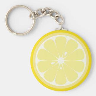 Zitronen-Scheibe Schlüsselanhänger