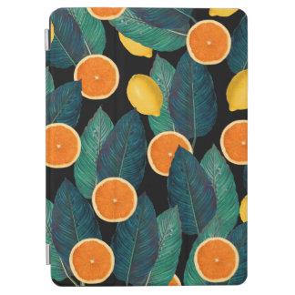 Zitronen- und Orangenschwarzes iPad Air Hülle