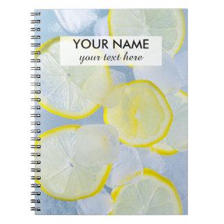 Zitroneneissoda-Getränkphotographie des Sommers Notizbücher