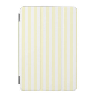 Zitronengelbe und weiße Pastellstreifen hellgelb iPad Mini Cover