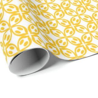 Zitronengelber Druck Geschenkpapier
