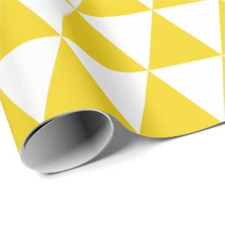 Zitronengelbes Dreieck-Packpapier Geschenkpapier