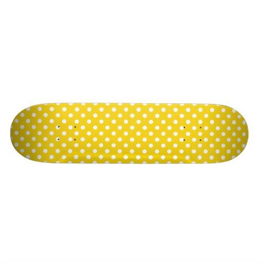 Zitronengelbes Tupfen-Muster Individuelle Decks