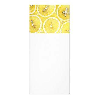 Zitronenhintergrund Werbekarte