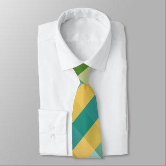 Zitrusfrucht-Drehungs-diagonale karierte Krawatte