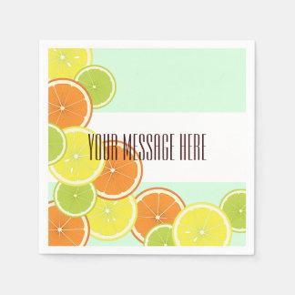 Zitrusfrucht-niedliches modernes Sommer-Party Papierserviette