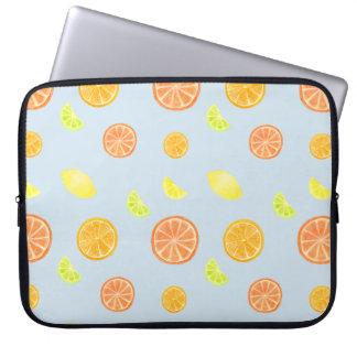 Zitrusfrucht schneidet Laptop-Hülse Laptopschutzhülle