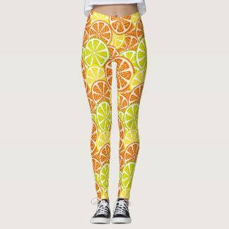 Zitrusfruchtmuster Leggings