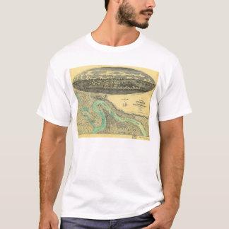 Zivile Kriegs-Ära-Karte von Vicksburg Mississippi T-Shirt