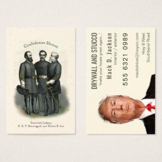 Zivile Kriegs-Held-Trockenmauer-Stuck-Malerei Visitenkarte