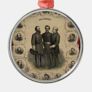 Zivile Kriegs-Helder Silbernes Ornament