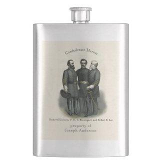 Ziviles Lee Kriegs-Held-Stonewalls Beauregard Taschenflasche