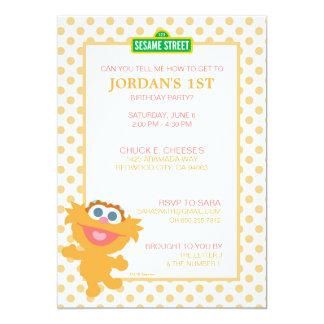 Zoe-Baby-Geburtstag 12,7 X 17,8 Cm Einladungskarte