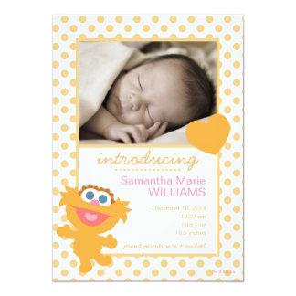 Zoe-Geburts-Mitteilung 12,7 X 17,8 Cm Einladungskarte