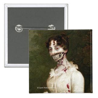 Zombie-Abdeckung Quadratischer Button 5,1 Cm