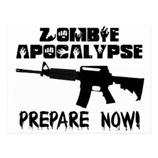 Zombie-Apokalypse bereiten sich jetzt vor Postkarte