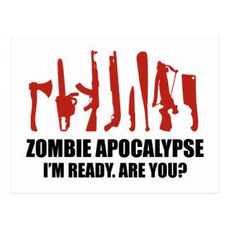 Zombie-Apokalypse bin ich bin Sie bereit Postkarte
