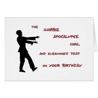 Zombie-Apokalypse-Geburtstags-Karte Karte