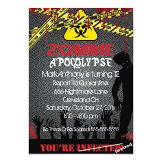 Zombie-Apokalypse-Halloween-Geburtstags-Einladung Karte