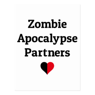 Zombie-Apokalypse partners Herzhälften Postkarte