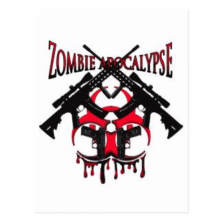 Zombie-Apokalypse Postkarte
