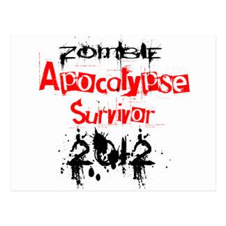 Zombie-Apokalypse-Überlebender 2012 Postkarte