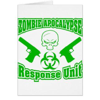 Zombie-Apokalypse-Warteeinheit Karte