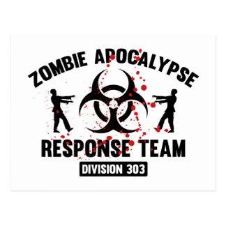 Zombie-Apokalypse-Warteteam Postkarte