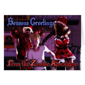 Zombie-Apokalypse-Weihnachtskarte - 001 Karte